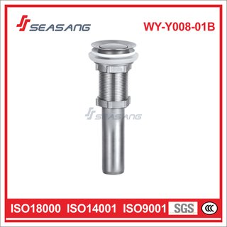 Stainless Steel Push Down Pop up Drain for Basin Sink