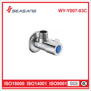 Plumbing Solid Stainless Steel Bule Color Cold Water Angle Valve