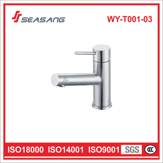 Stainless Steel Brushed Bathroom Sink Faucet Passed ANSI Test