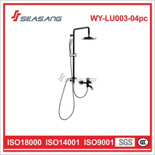 Stainless Steel Bathroom Rainfall Black Shower Set with Hand Bath