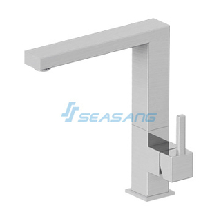Square Stainless Steel Kitchen Cabinet Sink Faucet Mixer Tap